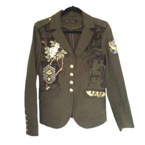Coogi embroidered long sleeves military jacket L